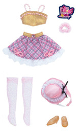 Licca-chan Harajuku Girls School coordinates Dress Set GIRLS CHECK