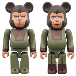 BE@RBRICK - Planet of the Apes - Cornelius & Zira 2Pack