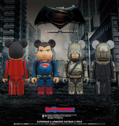 "BE@RBRICK ""Batman Vs. Superman Dawn of Justice"" Superman & Armored Batman 2 Pack"