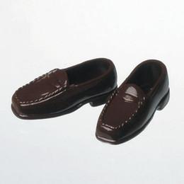OBITSU BODY ACCESSORY - Obitsu Loafers, Female 1/6 - Brown (2 Pairs)