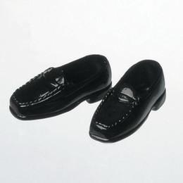 OBITSU BODY ACCESSORY - Obitsu Loafers, Female 1/6 - Black (2 Pairs)