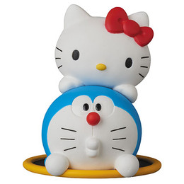 Ultra Detail Figure No.270 UDF DORAEMON meets HELLO KITTY DORAEMON x HELLO KITTY & Toorinuke Hoop