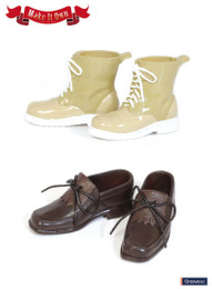 MS-004 - MIO Taeyang Tassel Shoe (Brown) X Short Boots (Beige)