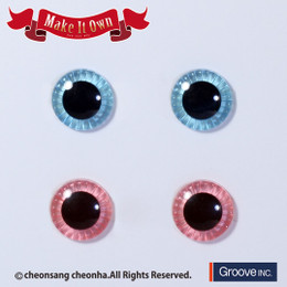ME-008 MIO Eyechips - Aqua Blue / Light Pink (2 Pairs set)