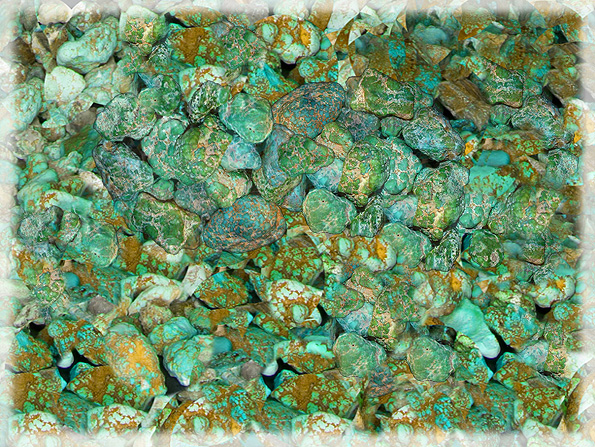 Lime Green Turquoise from the Carico Lake Turquoise Mine