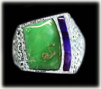 Lime Turquoise Ring from the Orvil Jack mine