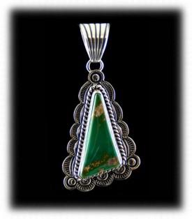 Green Turquoise Jewelry Pendant