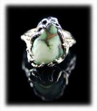 Damale Lime Green Turquoise Ring