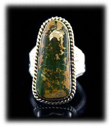 Green Pilot Mountain Turquoise Ring