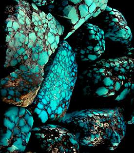 Natural Spiderweb Turquoise Rough