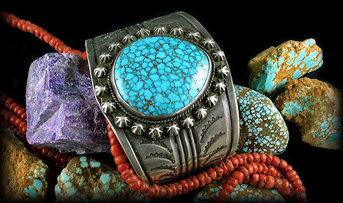 Natural Spiderweb Turquoise Cabochons