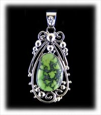 lime green Stennich Turquoise pendant