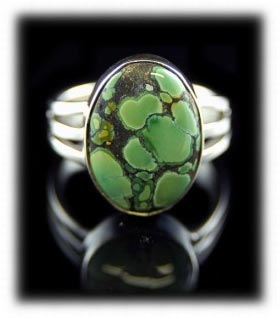 Lime Turquoise Jewelry Ring from Tortoise Turquoise