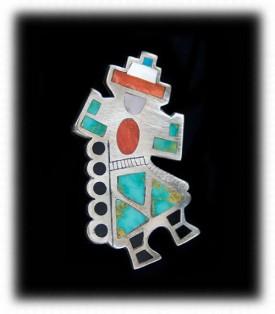 Zuni Jewelry - Rainbow Man Pin