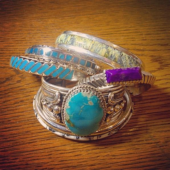 Handmade Sterling Silver and gemstone bracelets