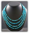 Summer Turquoise Bead Necklace by Nattarika Hartman