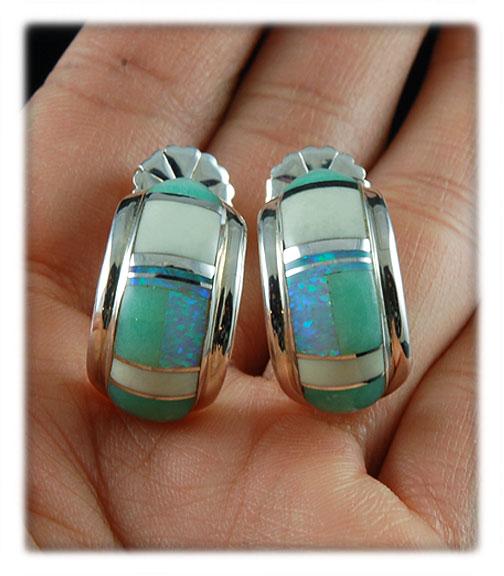 Inlay Earrings made in USA