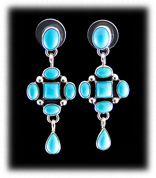 Blue Turquoise And Silver Jewelry