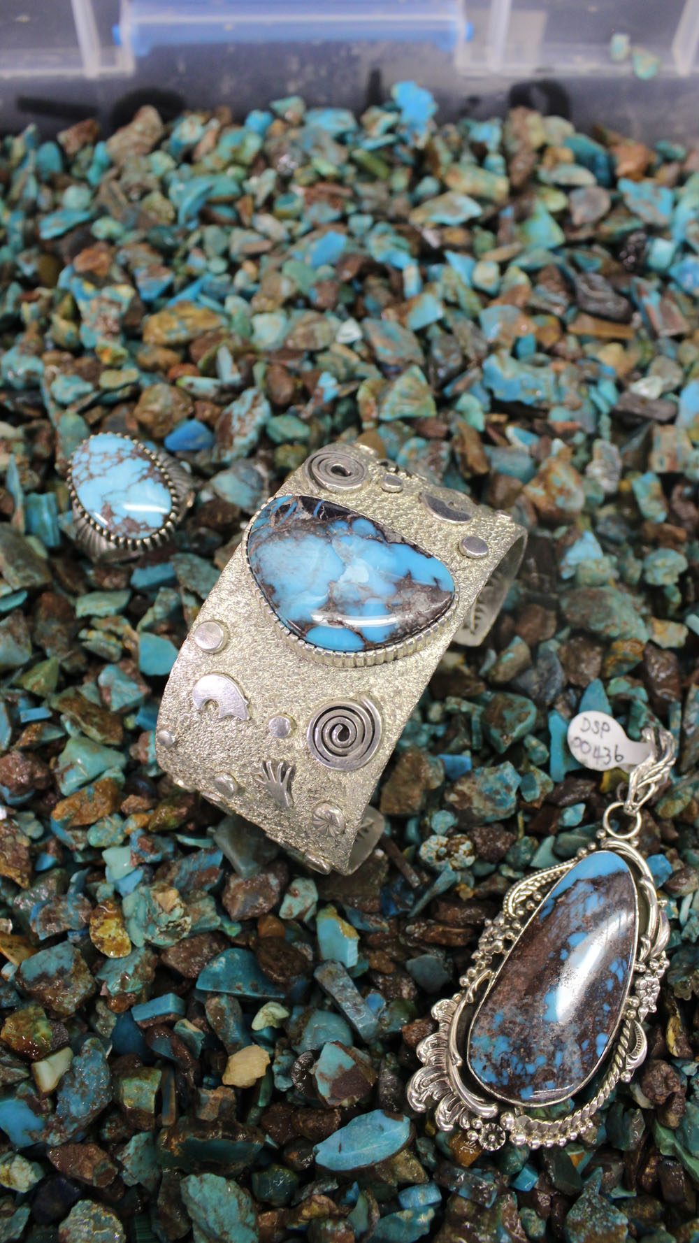 Bisbee Turquoise Jewelry in Bisbee rough