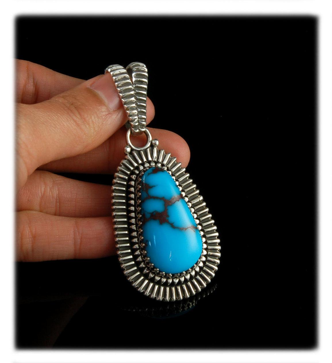 Egyptian Turquoise Pendant by John Hartman