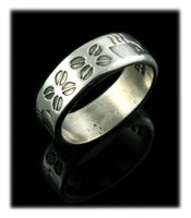 Sterling Silver Coffee Band Ring