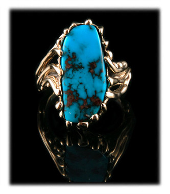 Women's gold and Turquoise ring