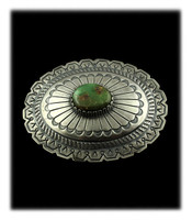 Deep Green Royston Turquoise Belt Buckle