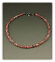 Tropic Style Rhodochrosite Bead Necklace