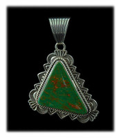 High Grade Manassa Turquoise Pendant by Albert Jake