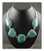 Number 8 Spiderweb Turquoise Necklace Set