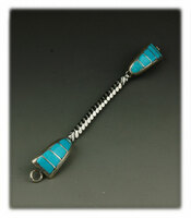 Sleeping Beauty Turquoise Inlay Watch Tips