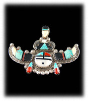 Zuni sun face Inlay Pin