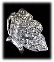 Silver Floral Pin