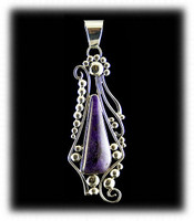 Gorgeous Large Natural Sugilite Pendant