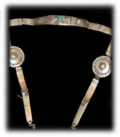 Antique Navajo Silver Bridle