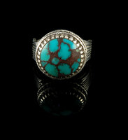 Spiderweb Egyptian Turquoise  Ring