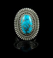 Natural Morenci Turquoise Ring Size 10