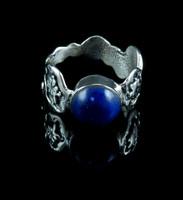 Lapis Lazuli Silver Turtle Ring