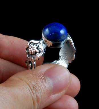 Lapis Lazuli Silver Size 10.5