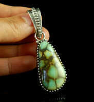 Heirloom Silver and Seven Dwarfs Variscite Pendant