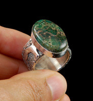 Damele Variscite Rock Art Ring