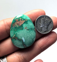 35.5 carats Natural Broken Arrow Variscite Cabochon