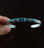 Cloud Mountain Turquoise Ingot Bracelet
