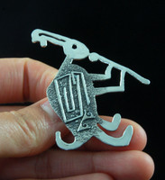 Sterling Silver Kokopelli Pin by Lonn Parker