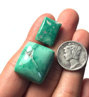 39.5 carats Broken Arrow Variscite Cabochon Pair