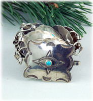 Ladies Vintage Silver and Turquoise Concho Belt