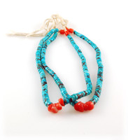 Vintage Persian Turquoise and Coral Jatal Beads