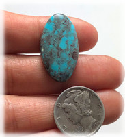 9.5 carats Oval Smoky Bisbee Turquoise Cabochon