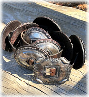 Vintage Navajo Concho Belt from 1950