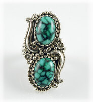 Two Stone Candelaria Variscite Ring